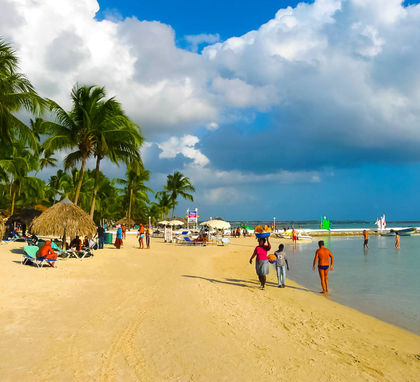 Dominican Republic. Boca Chica. The beach, summer and sun and sea