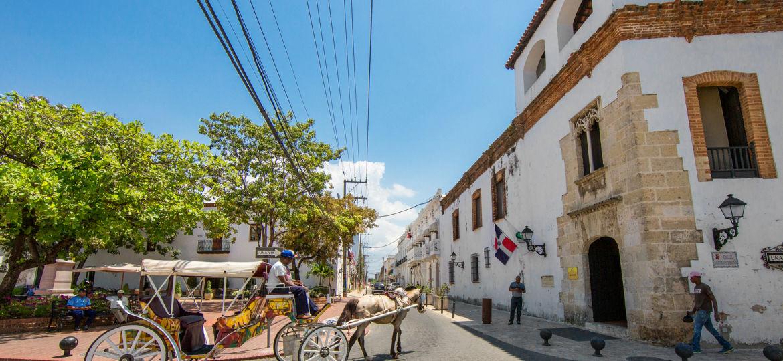 Dominican Republic, Santo Domingo - April 5, 2017: A Carriage Wi