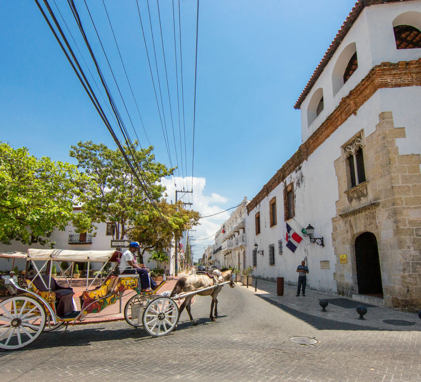 Dominican Republic, Santo Domingo - April 5, 2017: A Carriage Wi